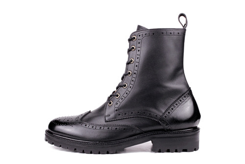 WINGTIP BOOTS BLACK